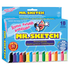 Mr. Sketch Scented Watercolor Markers, 18 Colors, 18/Set