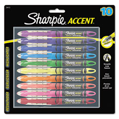 Sharpie - accent liquid pen style highlighter, chisel tip, assorted, 10/set, sold as 1 st
