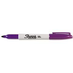Sharpie - permanent marker, fine point, purple, sold as 1 ea
