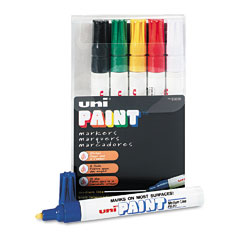 Sanford - uni-paint marker, medium point, assorted, 6/set, sold as 1 st