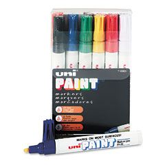Sanford - uni-paint marker, medium point, assorted, 12/set, sold as 1 st