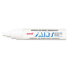 Sanford Ink 63743 Uni-Paint Marker, Broad Tip, White