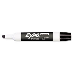 Expo - low odor dry erase marker, chisel tip, black, dozen, sold as 1 dz