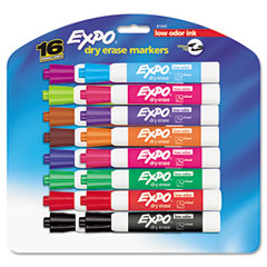 Expo - low odor dry erase markers, chisel tip, assorted, 16/set, sold as 1 st