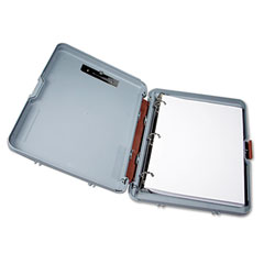 "Saunders 00480 Ringmate Storage Clipboard, 1"" Capacity, Holds 8-1/2W X 12H, Gray/Maroon"