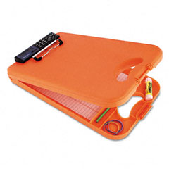 "Saunders 00543 Deskmate Ii W/Calculator, 1/2"" Capacity, 8-1/2W X 11-3/4H, Orange"