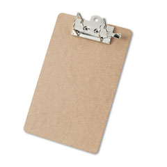 Saunders - hardboard arch clipboard, 2-inch capacity, holds 8-1/2-inchw x 12-inchh, brown, sold as 1 ea