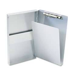 "Saunders 10507 Snapak Aluminum Forms Folder, 3/8"" Capacity, Holds 5-2/3W X 9-1/2H, Silver"