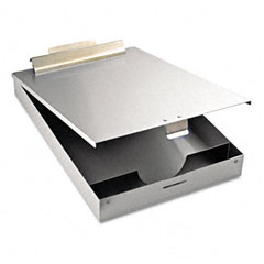 "Saunders 11017 Redi-Mate Aluminum Storage Clipboard, 1"" Capacity, Holds 8-1/2W X 12H, Silver"
