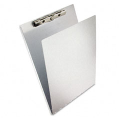 "Saunders 12017 Aluminum Clipboard W/Writing Plate, 3/8"" Capacity, Holds 8-1/2W X 12H, Silver"