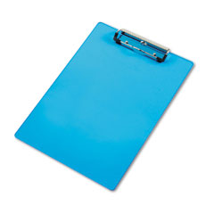 """Saunders 21567 Acrylic Clipboard, 1/2"""" Capacity, Holds 8-1/2W X 12H, Transparent Blue"""