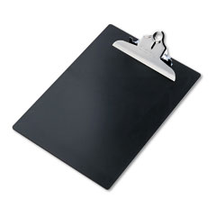 """Saunders 21603 Plastic Antimicrobial Clipboard, 1"""" Capacity, Holds 8-1/2W X 12H, Black"""