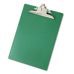 "Saunders 21604 Plastic Antimicrobial Clipboard, 1"" Capacity, Holds 8-1/2W X 12H, Green"