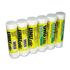 Saunders 99835 Uhu Stic Permanent Clear Application Glue Stick, 1.41 Oz, 6/Pack
