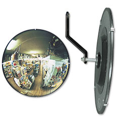 "See All N18 160 Degree Convex Security Mirror, 18"" Dia."