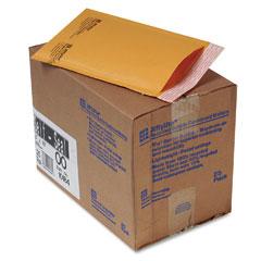 Sealed Air 10184 Jiffylite Self-Seal Mailer, Side Seam, #00, 5 X 10, Golden Brown, 25/Carton