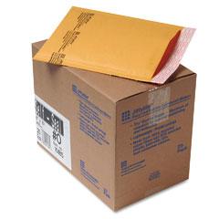 Sealed Air 10185 Jiffylite Self-Seal Mailer, Side Seam, #0, 6 X 10, Golden Brown, 25/Carton