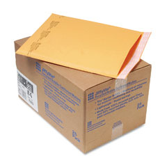 Sealed Air 10189 Jiffylite Self-Seal Mailer, Side Seam, #4, 9 1/2X14 1/2, Gold Brown, 25/Carton