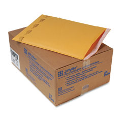 Sealed Air 10191 Jiffylite Self-Seal Mailer, Side Seam, #6, 12 1/2 X 19, Golden Brown, 25/Carton
