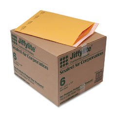 Sealed air - jiffylite self-seal mailer, side seam, #6, 12 1/2 x 19, golden brown, 50/carton, sold as 1 ct