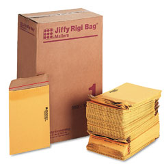 Sealed Air 49380 Jiffy Rigi Bag Mailer, Side Seam, #1, 7 1/4 X 12, Golden Brown, 250/Carton