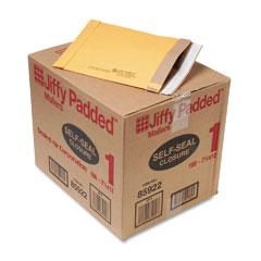 Sealed Air 85922 Jiffy Padded Self-Seal Mailer, #1, 7 1/4 X 12, Golden Brown, 100/Carton