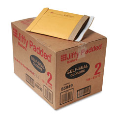 Sealed Air 85949 Jiffy Padded Self-Seal Mailer, Side Seam, #2, 8 1/2X12, Gold Brown, 100/Carton