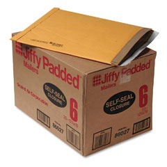 Sealed Air 86027 Jiffy Padded Self-Seal Mailer, Side Seam, #6, 12 1/2X19, Gold Brown, 50/Carton
