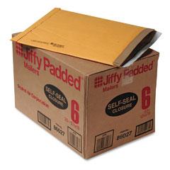 Sealed Air 86027 Jiffy Padded Self-Seal Mailer, Side Seam, #6, 12 1/2X19, Gold Brown, 50/Carton