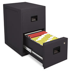 Sentry 6000B Fire-Safe 2-Drawer Insulated Vertical File, 17-1/2W X 23-1/4D X 28H, Black