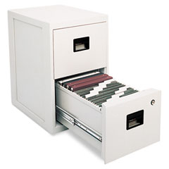 Sentry 6000 Fire-Safe 2-Drawer Insulated Vertical File, 17-1/4W X 23-1/4D X 28H, Light Gray