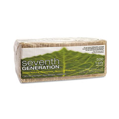SEV 13705 100% Recycled Napkins, One-Ply Luncheon Napkins, 11-1/2 X 12, Natural, 500/Pack