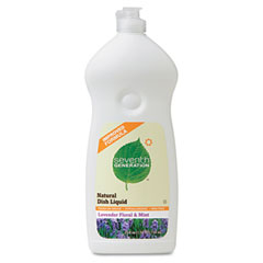 SEV 22734 Natural Dishwashing Liquid, Lavender Floral & Mint, 25 Oz. Bottle