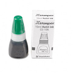Shachihata SHA22110 Refill Ink for Xstamper Stamps, 10mlBottle, Light Green