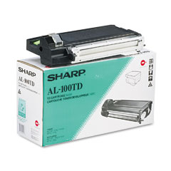 Sharp AL100TD Al100Td Toner, 6000 Page-Yield, Black
