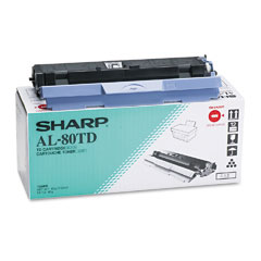 Sharp AL80TD Al80Td Toner, 3000 Page-Yield, Black