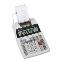 Sharp - el1750v lcd two-color printing calculator, 12-digit lcd, black/red, sold as 1 ea