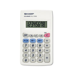 Sharp EL233SB El233Sb Pocket Calculator, 8-Digit Lcd