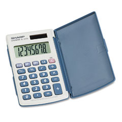 Sharp - el-243sb solar pocket calculator, 8-digit lcd, sold as 1 ea