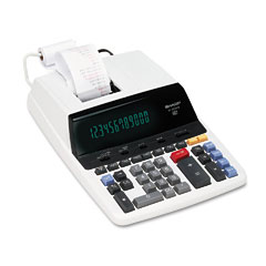 Sharp EL2630PIII El2630Piii Two-Color Printing Calculator, 12-Digit Fluorescent, Black/Red
