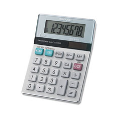 Sharp EL310TB El-310Mb Twin Powered Semi-Desktop Calculator, 8-Digit Lcd