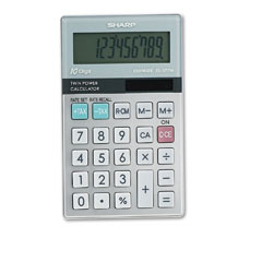 Sharp EL377TB El377Mb Handheld Business Calculator, 10-Digit Lcd