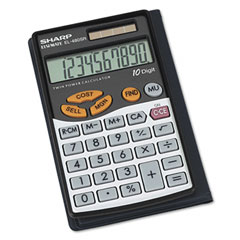 Sharp EL480SRB El480Srb Handheld Business Calculator, 10-Digit Lcd