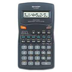 Sharp EL500WBBK El-500Wbbk Fraction/Scientific Calculator, 10-Digit Lcd