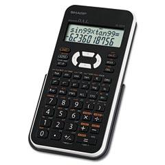 Sharp - el-531xbwh scientific calculator, 12-digit lcd, sold as 1 ea