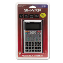 Sharp EL738C El-738C Financial Calculator, 10-Digit Lcd