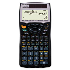 Sharp SHRELW516B EL-W516B Scientific Calculator, 16-Digit x 4-Line LCD