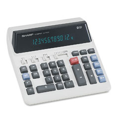 Sharp QS2122H Qs-2122H Compact Desktop Calculator, 12-Digit Fluorescent
