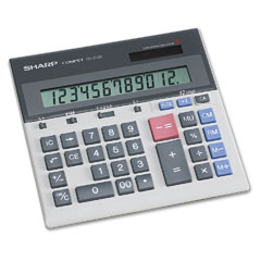 Sharp - qs-2130 compact desktop calculator, 12-digit lcd, sold as 1 ea