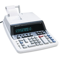 Sharp QS2760H Qs2760H Two-Color Ribbon Printing Calculator, 12-Digit Fluorescent, Black/Red